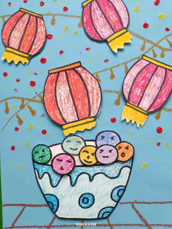 元宵节主题课件-创意儿童画图片